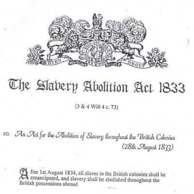 why was slavery abolished in 1807 1833