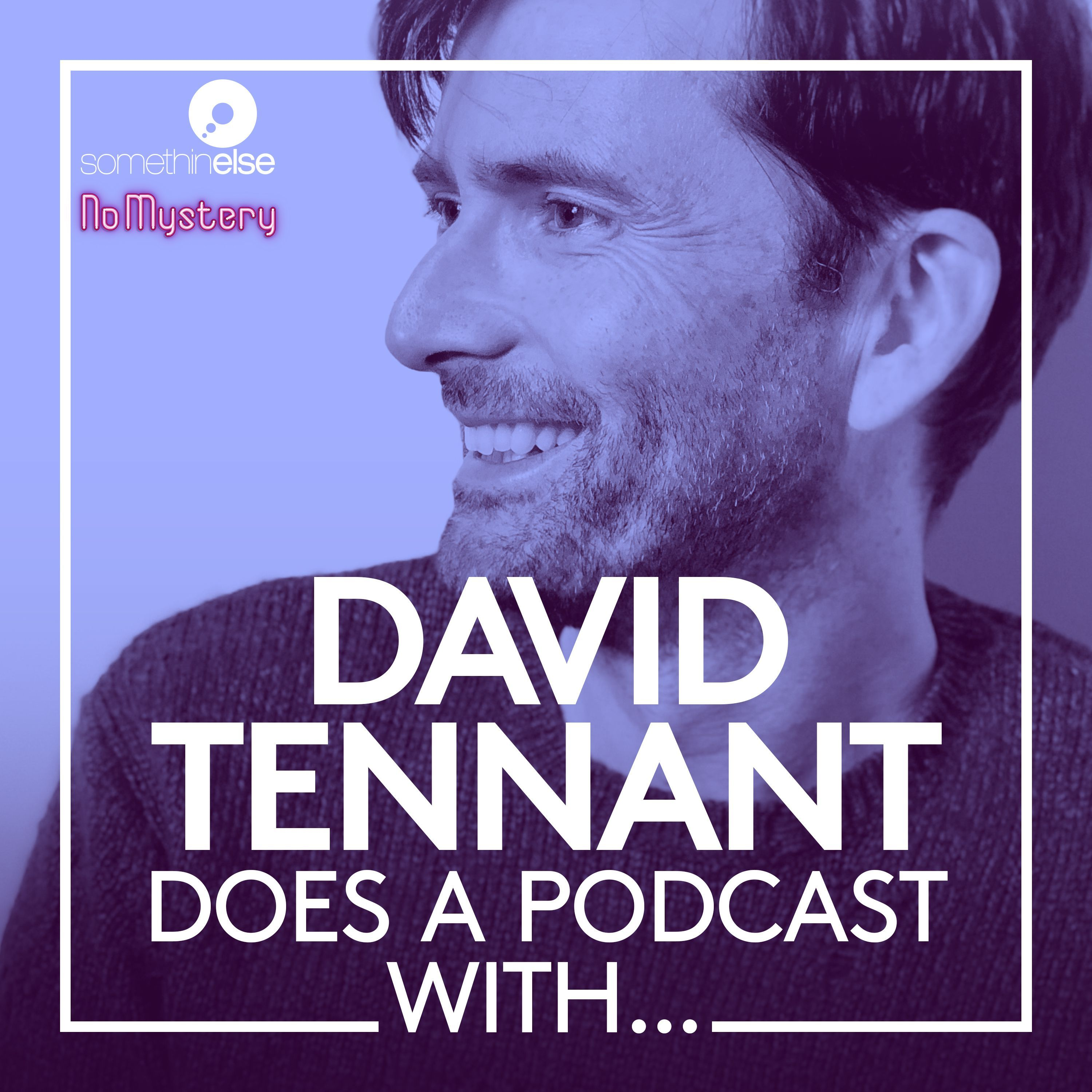 David Tennat does a podcast cover photo